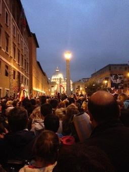 Vigil for canonizations