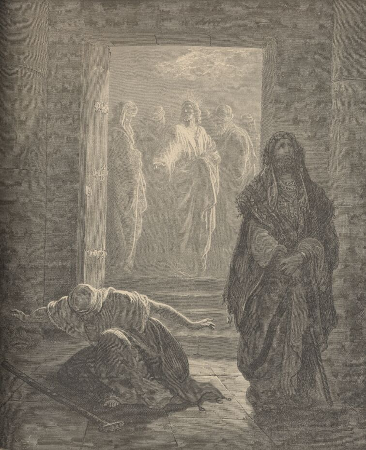 The Pharisee and Publican by Gustave Dore